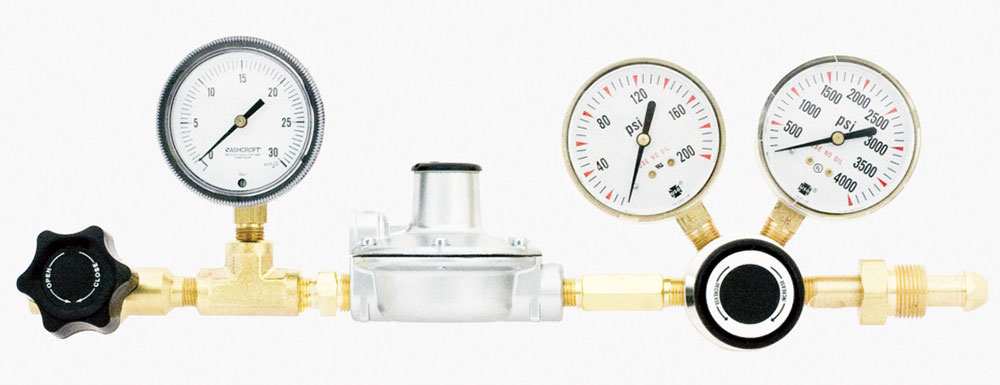 Two-stage High Purity Regulators for Low Pressure Delivery